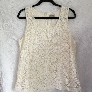 ♥️4 for $20 Lucky Brand Jeans Crochet Tank Top